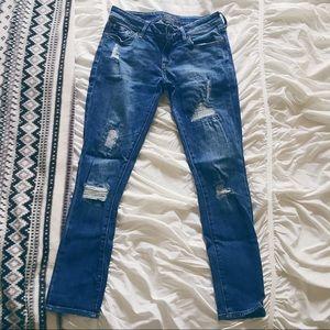 Lucky Brand Lolita Skinny Destructed Patch Jeans
